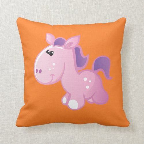 Cute Pony Throw Pillow