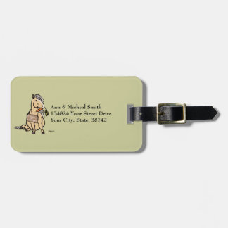 Cute Pony Will Work For Carrots Bag Tag