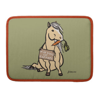 Cute Pony Will Work For Carrots Sleeve For MacBooks