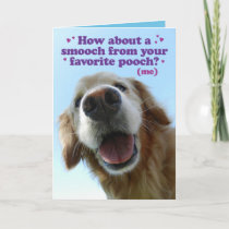 Cute Pooch Golden Retriever Mother's Day Card