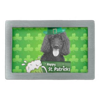 Cute Poodle Dog Hat St. Patrick Day w Clovers Belt Buckle