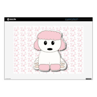 Cute poodle puppy skin for laptop