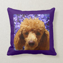 Cute Poodle Throw Pillow