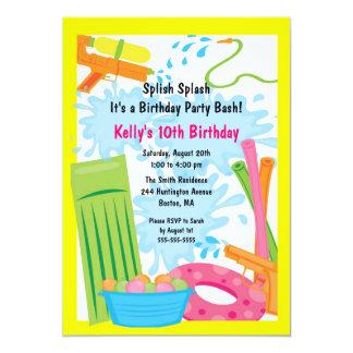 Cute Pool Party Birthday Invitation