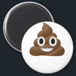 """Cute Poop Emoji Magnet<br><div class=""""desc"""">This cute and poop emoji has been printed on an extra soft 100% cotton t-shirt.</div>"""