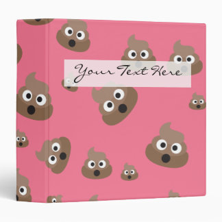 Cute Poop Emoji Pattern Binder