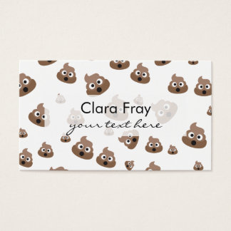 Cute Poop Emoji Pattern Business Card