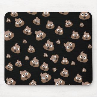 Cute Poop Emoji Pattern Mouse Pad