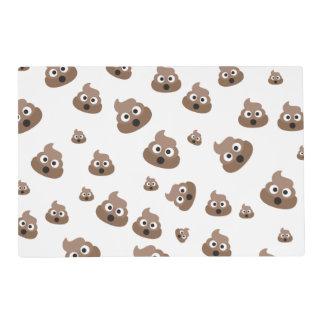 Cute Poop Emoji Pattern Placemat
