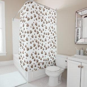 cute poop emoji pattern shower curtain - Cute Shower Curtains