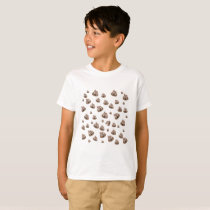 Cute Poop Emoji Pattern T-Shirt