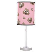 Cute Poop Emoji Pattern Table Lamp