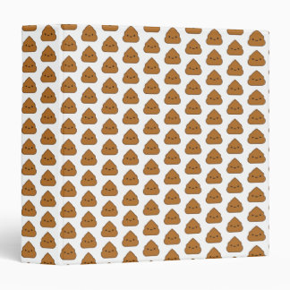 Cute Poop Pattern 3-Ring Binder