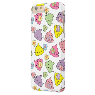 Cute Poopies Valentine's Conversation Hearts Barely There iPhone 6 Plus Case