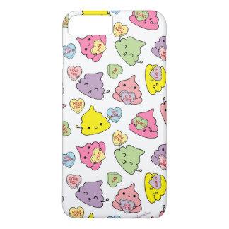 Cute Poopies Valentine's Conversation Hearts iPhone 7 Plus Case