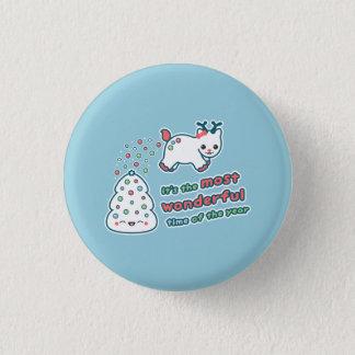 Cute Pooping Reindeer Button
