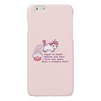 Cute Pooping Unicorn Glossy iPhone 6 Case