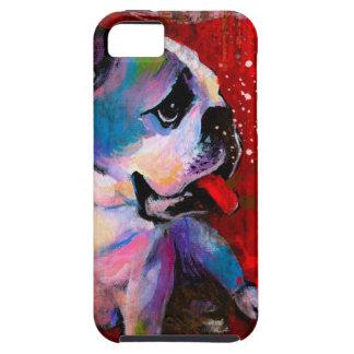 Cute Pop Art American English Bulldog art painting iPhone 5 Cases