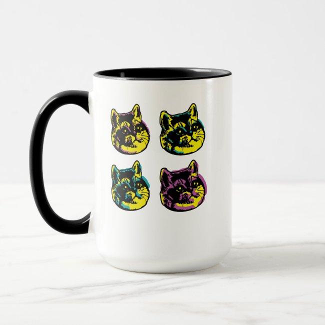 Cute Pop Art Cats Heavy Breathing Intensifies