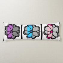 Cute Pop Art Flower Body Pillow