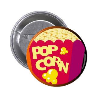 Cute Pop Corn Button