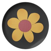 Cute pop flower dinner plate