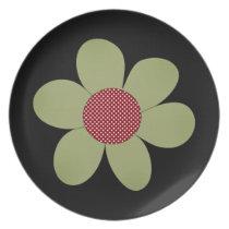Cute pop flower melamine plate