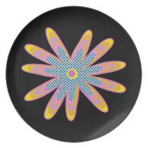 Cute pop flower plate