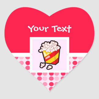Cute Popcorn Heart Sticker