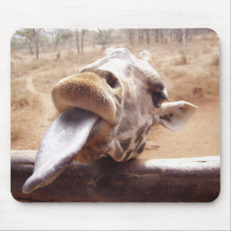 Cute Pose By Giraffe Mouse Pad