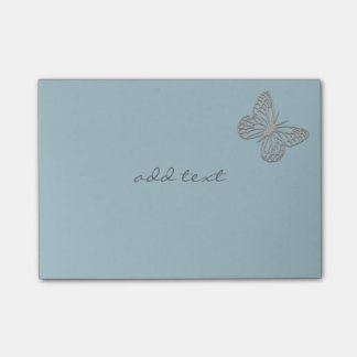 Cute Post It With Cute Silver Butterfly Post-it Notes