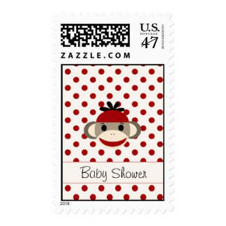 Cute Postage By The Sock Monkey Shoppe