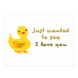Cute Postcard with Duckling
