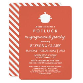 Potluck invitations announcements zazzle cute potluck engagement party invitation stopboris Gallery