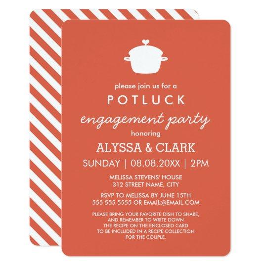 Cute Potluck Engagement Party Invitation Zazzle Com