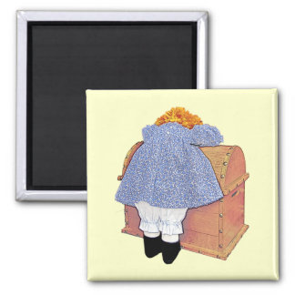 Cute Pouting Doll Customizable Magnet