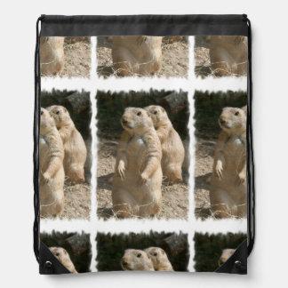 Cute Prairie Dog Drawstring Bags