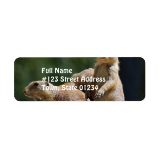 Cute Prairie Dogs Return Address Label