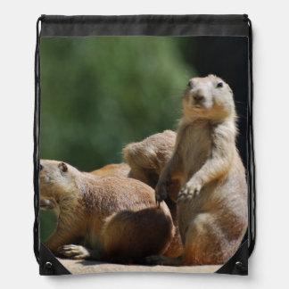Cute Prairie Dogs Drawstring Backpack