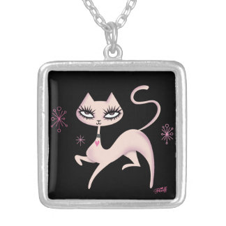 Cute Prancing Cat Necklace by Fluff