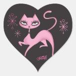 Cute Prancing Cat Sticker by Fluff