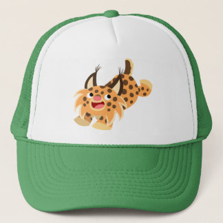 Cute Prankish Cartoon Bobcat Hat