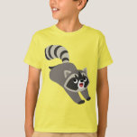 Cute Prankish Cartoon Raccoon Children T-Shirt