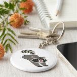 Cute Prankish Cartoon Raccoon Keychain