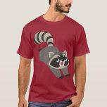 Cute Prankish Cartoon Raccoon T-Shirt