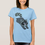 Cute Prankish Cartoon Raccoon Women T-Shirt