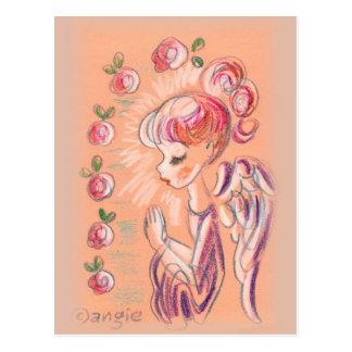 Cute Praying Angel Postcard