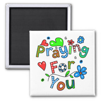 Cute Praying For You Greeting Text Expression Magnet