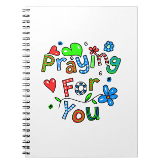 Cute Praying For You Greeting Text Expression Notebooks