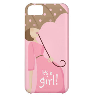 Cute Pregnant Mom to be It's a GIRL! iPhone 5C Case